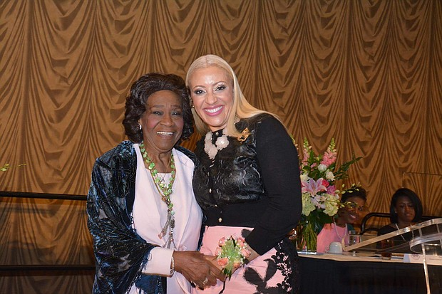 Mia Wright with 18th International President of Alpha Kappa Alpha Sorority, Incorporated Dr. Mattelia B. Grays