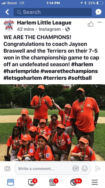 The acclaimed Harlem Little League has produced a plethora of outstanding student-athletes as well as successful teams since its founding ...