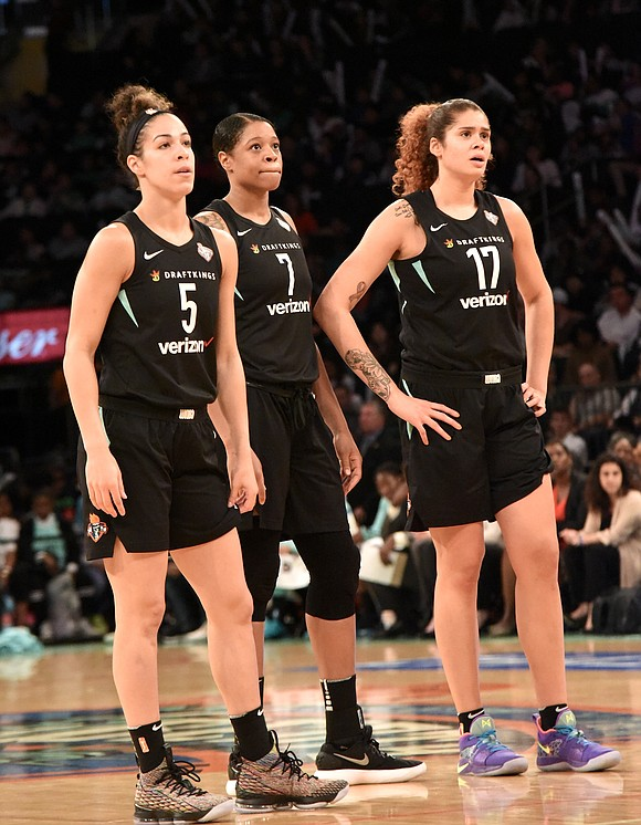 It took five players in double figures, a 28-point performance from Tina Charles, a double-double from Kia Vaughn and overtime, ...