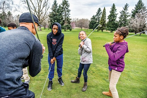 Mondays are free golf days for junior golfers up to the age of 17 at Portland's Colwood Golf Center in ...