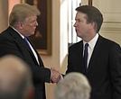 President Donal Trump and Judge Brett Kavanaugh