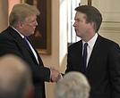 President Donal Trump and Judge Brett Kavanaugh