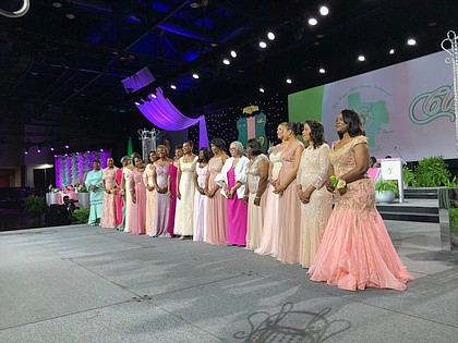 Alpha Kappa Alpha Sorority, Incorporated's newly installed Board of Directors for 2018-2020