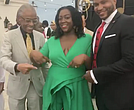 Rev. Al Sharpton, Dominique Sharpton Bright and Marcus Bright
