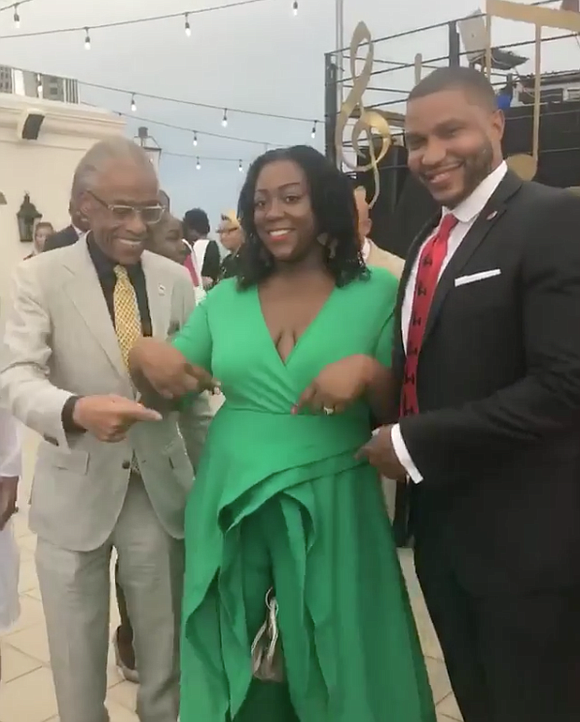 Dominique Sharpton Bright, the daughter of civil rights icon the Rev. Al Sharpton, recently announced that she's pregnant with her ...