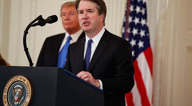 "Brett M. Kavanaugh, 53, promises to be an independent justice who would keep ""an open mind in every case"" in accepting President Trump's nomination to be a justice on the U.S. Supreme Court. A judge on the U.S. Court of Appeals for the District of Columbia, he was introduced Monday night at the White House as the president's choice to replace retiring Justice Anthony Kennedy, 81."