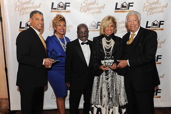 The Loretto Hospital Foundation (LHF) honored Spencer Leak, Sr. and Spencer Leak, Jr., of Leak & Sons Funeral Homes, at ...