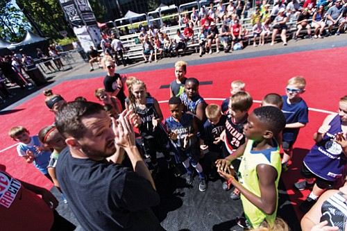 "Area youth are lining up to play in the annual Trail Blazers ""Rip City 3 on 3"" basketball tournament presented ..."