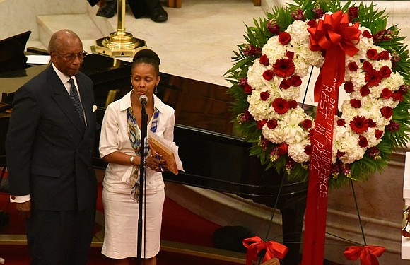 Funeral services for late community activist Beverly Alston were held Tuesday at the Abyssinian Baptist Church in Harlem.