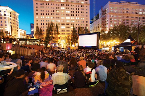For the next five Fridays nights though Aug. 27, the Pioneer Courthouse Square is transformed into Portland's largest outdoor movie ...