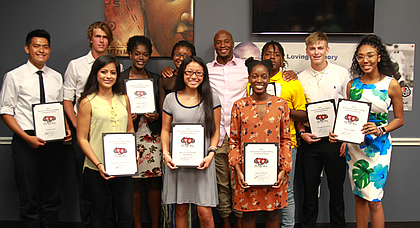 Scholarship Recipients along with Devard Darling, Founder of AsOne Foundation