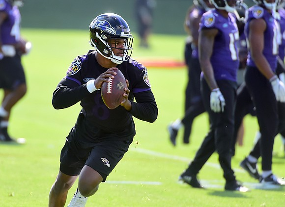 The Baltimore Ravens traded back into the first round of the 2018 NFL Draft to select rookie quarterback Lamar Jackson ...