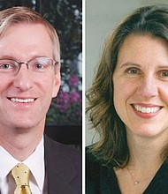 Mayor Ted Wheeler (left) and Deborah Kafoury announced Friday a joint effort of local and state agencies to fund $12 million of affordable housing with mental health treatment.
