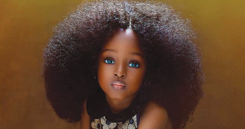 """A photogenic five-year-old from Nigeria has been dubbed the world's """"most beautiful girl"""" after portraits of her went viral on ..."""