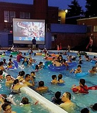 Portland Parks & Recreation's Dive-in Movies return to pools this summer, including at the Grant Park pool (pictured) in northeast Portland.