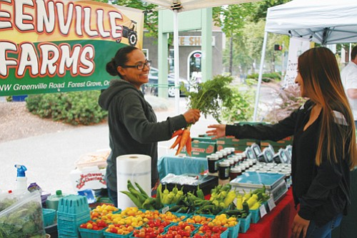 Farmers Markets are a source of nutritious foods with locally grown fruits and vegetables and other products..