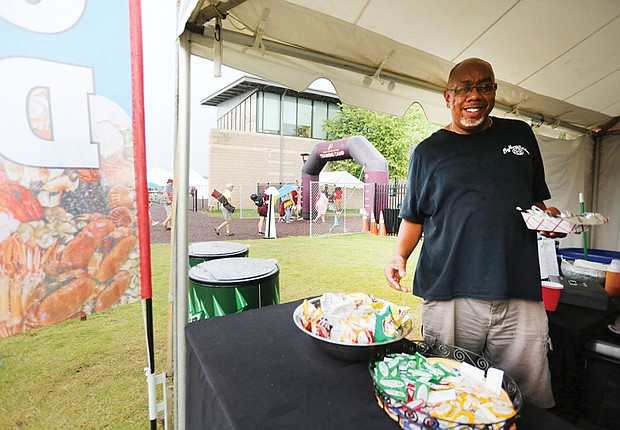 Herman Baskerville Sr., 45, owner of Big Herm's Kitchen in Jackson Ward, said being a food vendor for several seasons at the Washington NFL team's training camp on Leigh Street has provided visibility and profits.