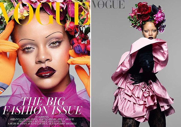 Rihanna made history by becoming the first black woman to appear on the cover of British Vogue's September issue. Like ...
