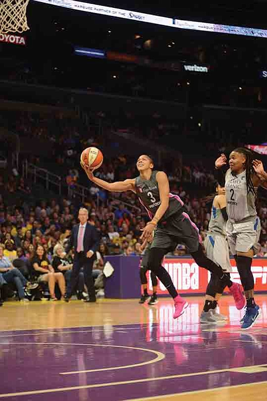 Candace Parker had 23 points, 10 rebounds and four assists for her ninth