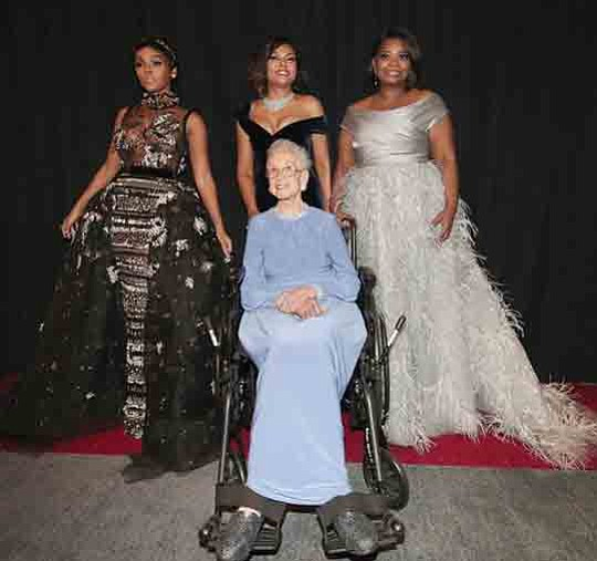 Katherine Johnson, Dorothy Vaughan, Mary Jackson and Christine Darden played..