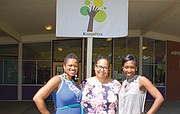 Marsha Williams (from left), Zalika Gardner and  Kali Thorne-Ladd are founders of KairoxPDX, a public non-profit charter school designed specifically to close the achievement gap for minority students in Portland. Thorne-Ladd is the school's current executive director.