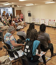 Activists kick-off a campaign with Oregonians United Against Profiling, which includes the American Civil Liberties Union of Oregon, to oppose Ballot Measure 105 in the November General Election that would repeal Oregon's sanctuary law, passed 31 years ago because of racial profiling.