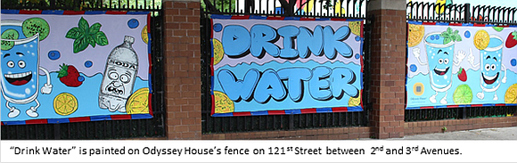 The Health Department announced a new mural and art exhibit in East Harlem encouraging New Yorkers to drink water instead ...