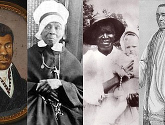 From left, Pierre Toussaint, Mary Elizabeth Lange, Julia Greeley and Augustus Tolton are among five African-American candidates being supported for sainthood.