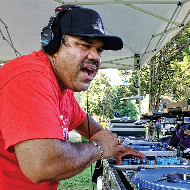 "DJ Tony Fernandez spins high-energy house music Saturday at the 3rd Annual RVA Soul House Fest held at St. Joseph's Villa. The free event, a community party, featured six DJs and a host of entertainers serving up a variety of ""house music,"" a mix of soul and R&B."
