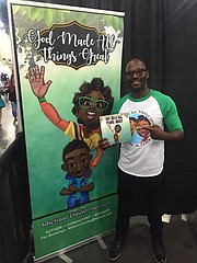 Author Michael David Harrison spotted at the 2018 Houston Black Heritage Festival