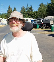 Eddie Kirk Jones, 58, worries that without new zoning protections, the property where he and his wife have lived in the Cully Neighborhood for the past 17 years, will be redeveloped and land them on the street.