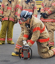 Young men and women, 16 to 20, become familiar with career opportunities available in the fire service as part of a cadet program offer by Portland Fire & Rescue.