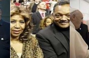 The late great Queen of Soul Aretha Franklin (1942-2018) and Reverend Jesse L. Jackson, Sr.