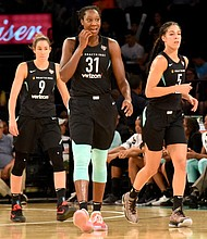 Rebecca Allen, Tina Charles and Kia Nurse