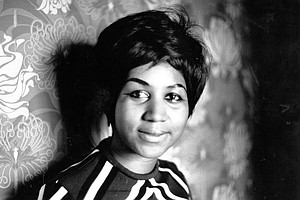 """Aretha Franklin's signature song and biggest hit, """"Respect"""" burst from dance halls, car radios and porch windows amid a turbulent year marked by racial tensions and women lobbying for equal rights.  Full Credit: Express Newspapers/Hulton Archive/Getty Images"""