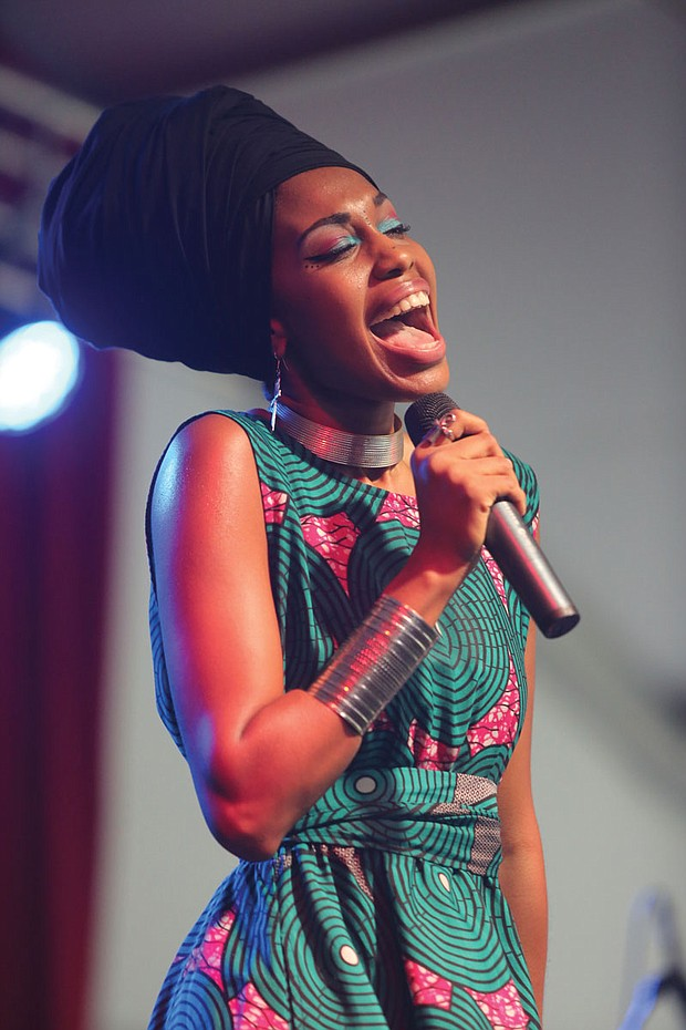 The 9th Annual Richmond Jazz Festival at Maymont last weekend. Vocalist Jassmeia Horn, 27, of Dallas, blows the crowd away Sunday. She is the 2015 Thelonious Monk Competition winner.