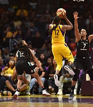 Chelsea Gray scored a career-high 26 points as the Los Angeles Sparks defeated the New York Liberty 74-66 earlier this week.