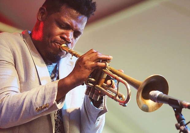 The 9th Annual Richmond Jazz Festival at Maymont last weekend. Jazz trumpeter Keyon Harold, 37, of Ferguson, Mo., is known for his work with A-listers Beyoncé, Jay-Z, Maxwell and Mary J. Blige.