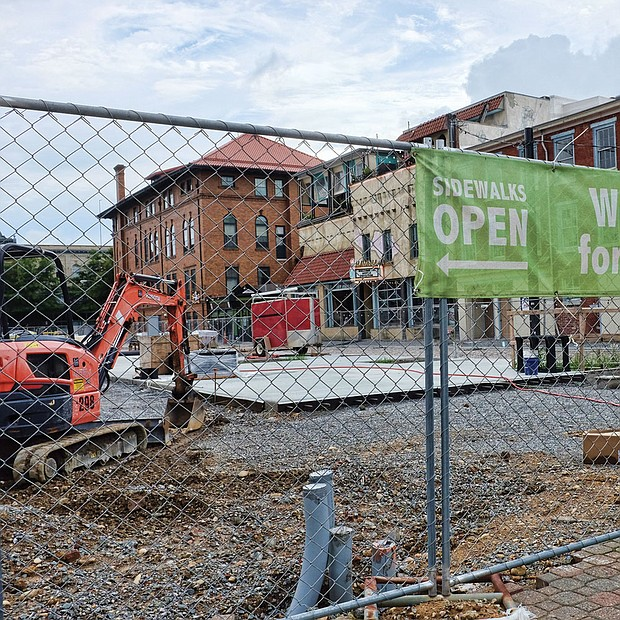 Work continues on 17th Street Farmers' Market.