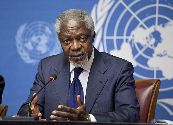 Kofi Annan, one of the world's most celebrated diplomats and a charismatic symbol of the United Nations who rose through ...