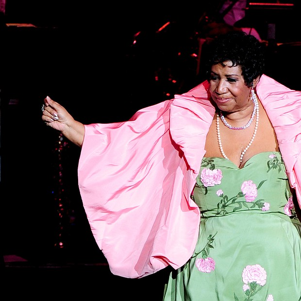 Ms. Franklin performs at the DTE Energy Music Theater in Clarkston, Mich., on Aug. 25, 2011.