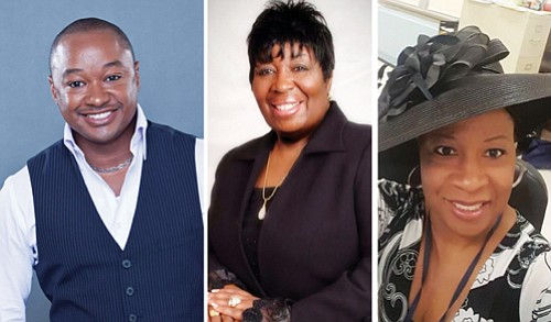 Urban contemporary gospel and a traditional black gospel recording artist and singer David Daughtry (left) of Los Angeles will headline the Gospel Greats of the Pacific Northwest concert coming Sept. 15 to the Highland Christian Center in northeast Portland. The late Charlotte Marie Brandon (center), a beloved Gospel singer, mother and grandmother from Portland, will be honored posthumously and a special presentation will be made to the Brandon family when the Highland Christian Center hosts its fourth Gospel Greats of the Pacific Northwest Awards and Concert. Honoree Jacqueline Hardy of Seattle will also be featured.