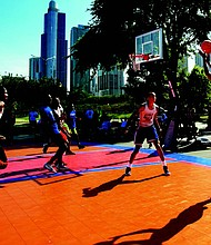 The 12th Annual Hoops in the Hood Cross-City Basketball Tournament was recently hosted by