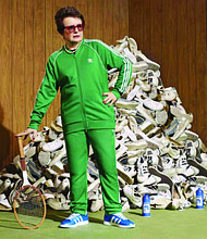 Billie Jean King (pictured) partners with adidas to launch the Here to Create Change campaign.