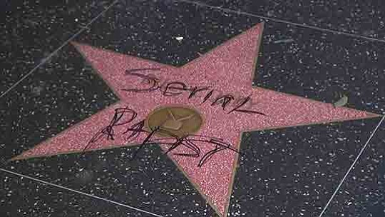 Bill Cosby's star on the Hollywood Walk of Fame was vandalized this week, police said...