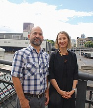 Tony DeFalco, deputy director of the nonprofit Verde organization, a group rooted in helping low-income communities in Portland, and Kimberly Branam, executive director of Prosper Portland, the city's economic development arm, oversee plans to develop 32 acres of prime Pearl District real estate for new housing and retail development, dubbed the Broadway Corridor.