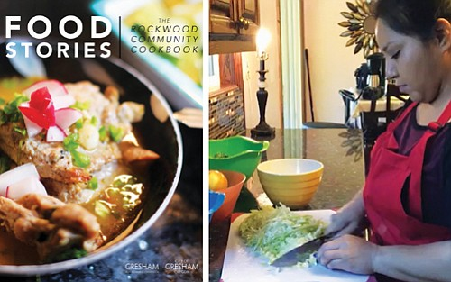 A Gresham home cook shows how to create one of her favorite Mexican dishes as part of her contribution to the publication of a new community cookbook to celebrate the array of food and diverse ethnic traditions found in Gresham's Rockwood neighborhood.