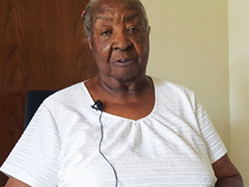 """Ruth Jefferson-Simon, 86, is the 200th patient to receive a Watchman device at Legacy Emanuel Medical Center for patients with non-valvular artial fibrillation (A-Fib). She wants everyone to know that she """"feels good."""""""