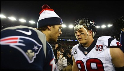 Tom Brady and JJ Watt