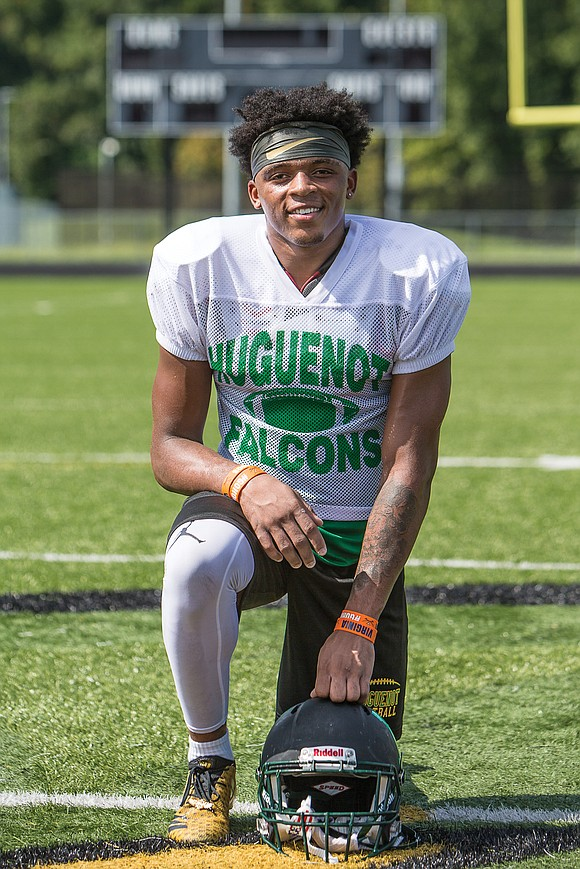 Kevin Gayles Jr. knows the way to the end zone. The swift, sure-handed Huguenot High School wide receiver needs no ...